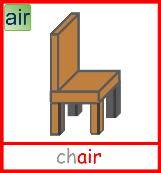 Chair picture card