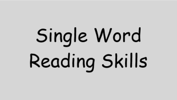 Single word reading