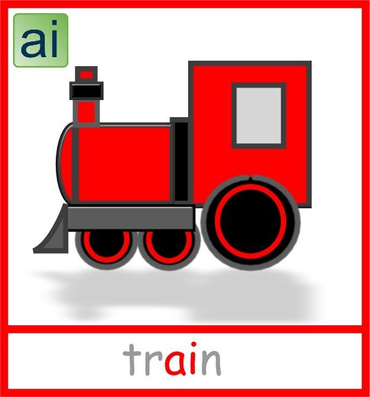 Train picture card