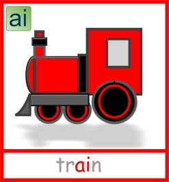 Train picture card