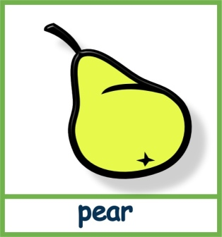 Pear - Lucy phonics section